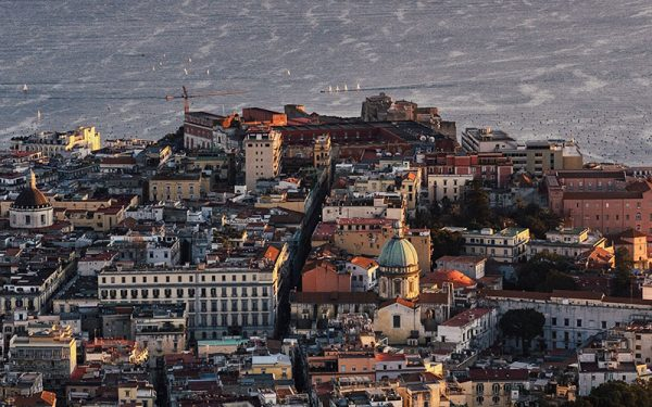 Looking down on Naples
