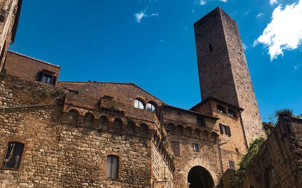 Old-style buildings in San Gimignano