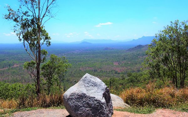 Large rock at the top of a hill in Townsville