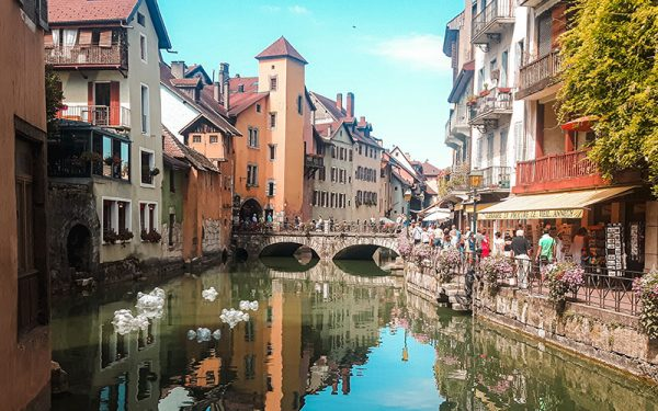 Glossy canal in Annecy