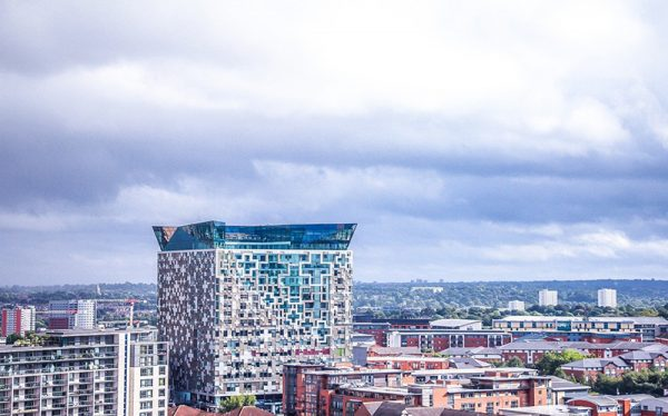 Large cube-shaped building in Birmingham