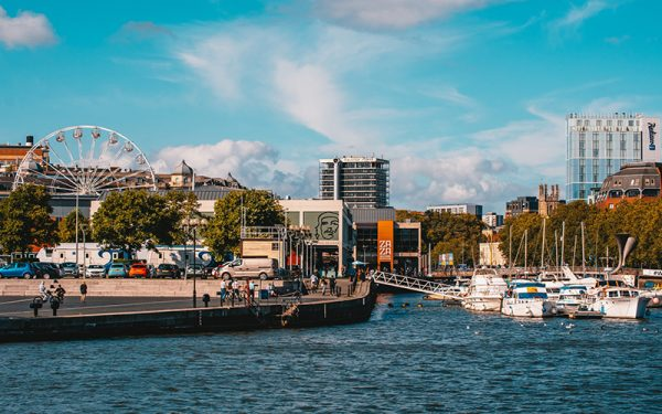 Water and boats in Bristol docks