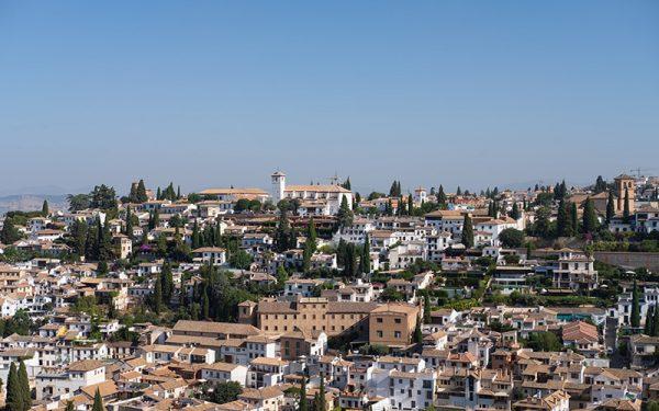 Cloudless sky in Granada