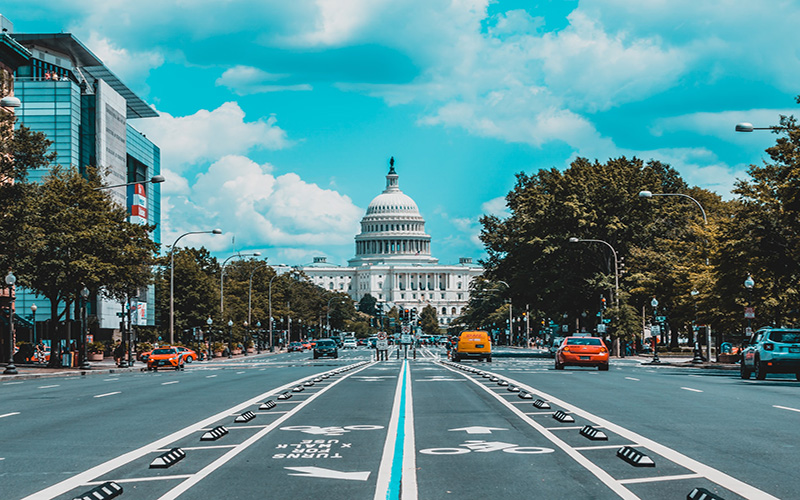Road to the capitol building