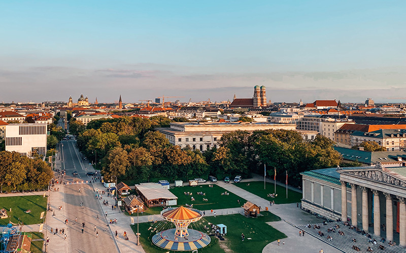Birdseye view of Munich